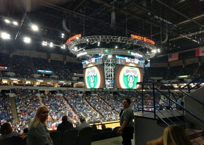 Target Center, a view of the floor