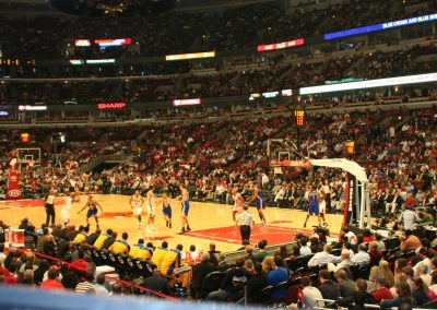 United Center, a view of the court