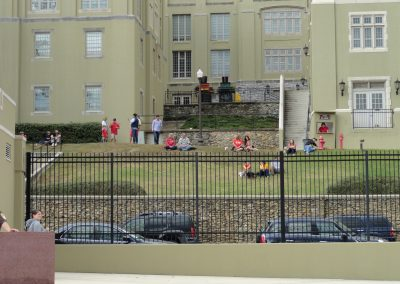 Alumni Memorial Field at Foster Stadium, Fans Watching from Grass