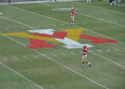 Alumni Memorial Field at Foster Stadium, VMI Keydets Logo at Midfield