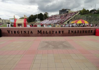 Alumni Memorial Field at Foster Stadium, VMI Signage inside Stadium