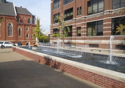 Arthur J. Rooney Athletic Field, Fountain on Duquesne Campus
