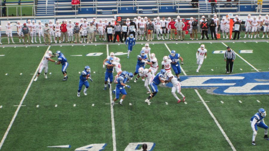 Arute Field, Central Connecticut Blue Devils in Action