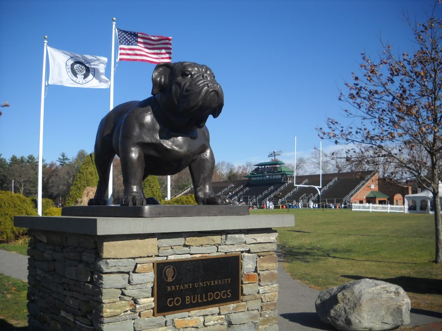 Bulldog Stadium, Statue at Entrance