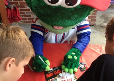 Fluor Field at the West End Mascot Autographs