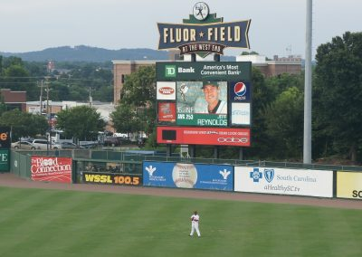 Fluor Field at the West End Scoreboard
