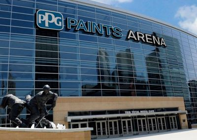 Exterior of PPG Paints Arena