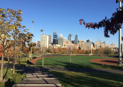 Franklin Field, Nearby Athletic Fields with City View