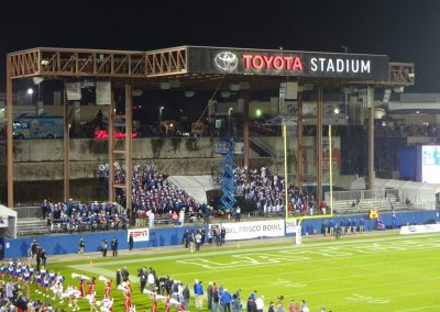 Frisco Bowl at Toyota Stadium, School Bands in the End Zone