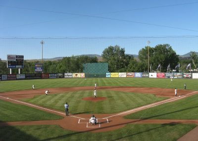 View From Behind Home at Memorial Stadium, Boise Hawks