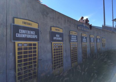 Johnny Unitas Stadium, Towson Tigers wall of excellence