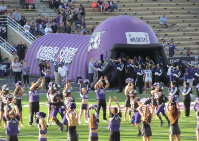 Stewart Stadium, the Weber State Wildcats take the field