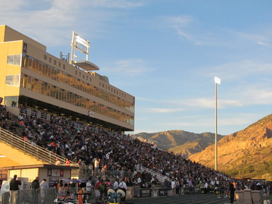 Stewart Stadium, the scenic mountain setting hard to beat