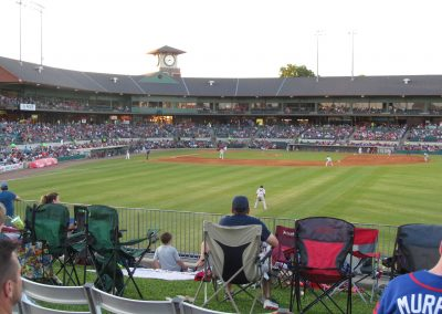 Dickey-Stephens Park Outfield View