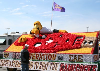 Tucker Stadium, Operation Game Float Depicting Today's Opponent