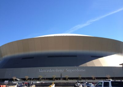 Mercedes-Benz Superdome Exterior, Home of the New Orleans Bowl