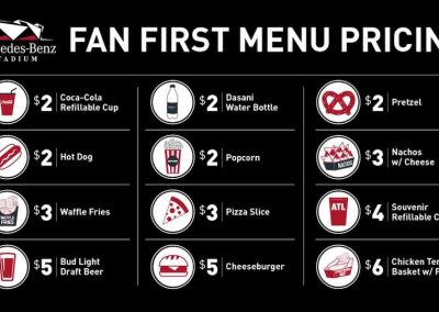 Fans First Concessions Pricing at Mercedes-Benz Stadium