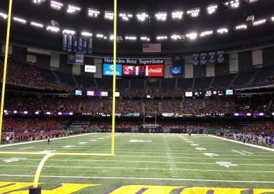 Field View at the Mercedes-Benz Superdome, Home of the New Orleans Bowl