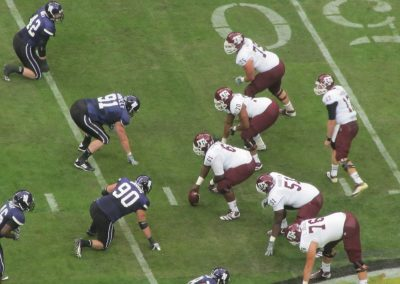 Game Action at NGR Stadium during the Texas Bowl