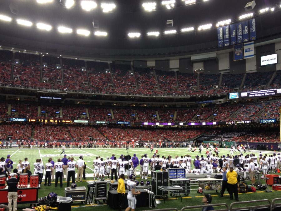 Mercedes-Benz Superdome Interior, Home of the New Orleans Bowl