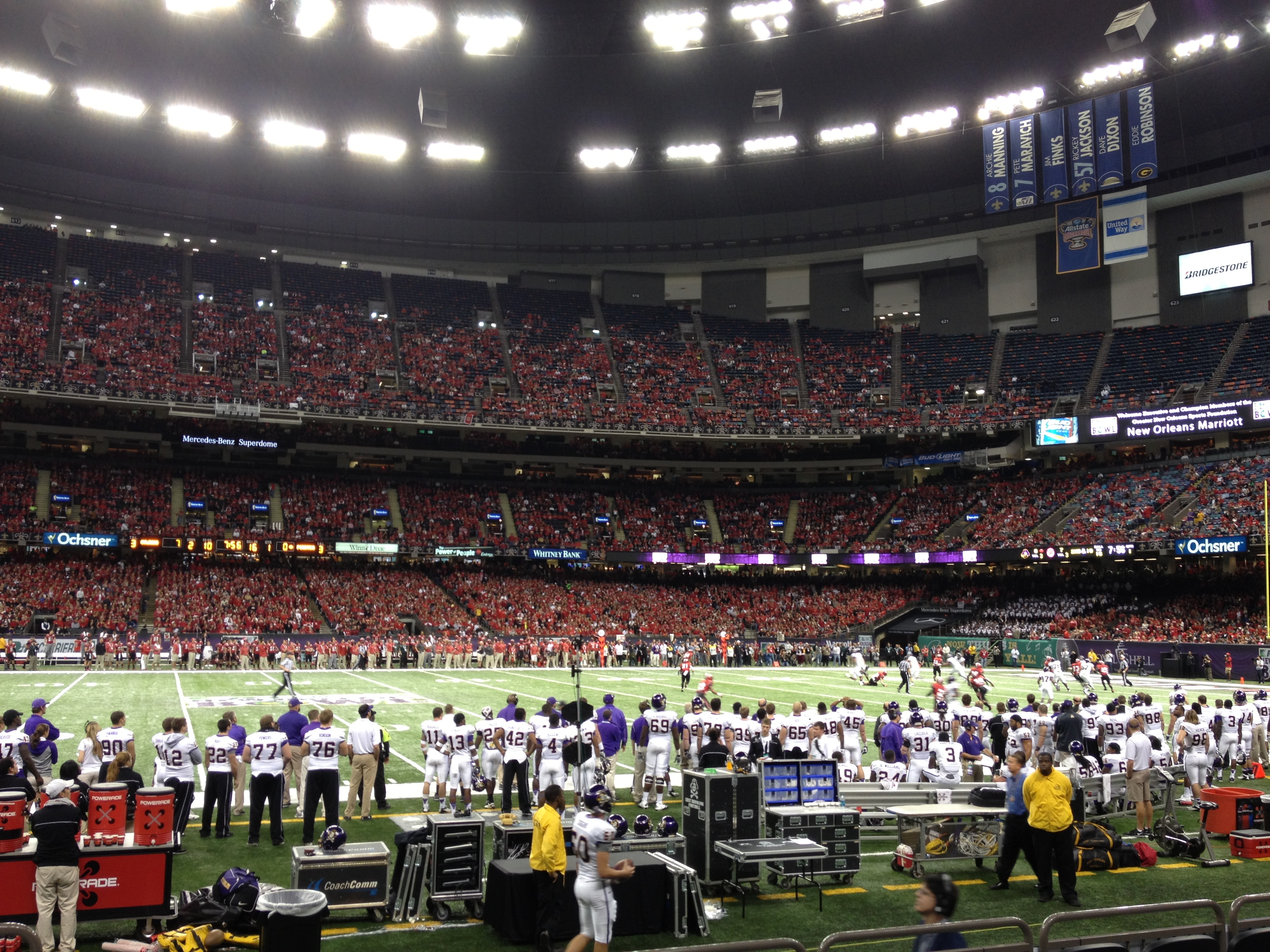 Captivating Mercedes Benz Superdome Interior, Home Of The New Orleans Bowl