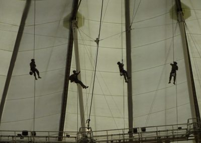 Gasparilla Bowl at Tropicana Field, Military Members Rapelling from the Roof