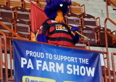 Freedmont Mortgage Field at Farm Show Arena Mascot
