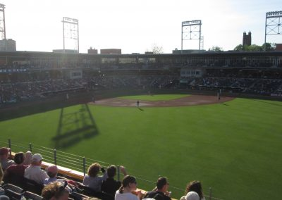 Dunkin' Donuts Park from Right Field Porch