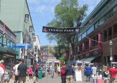 Approaching Jersey Street at Fenway Park