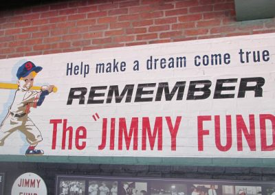 Jimmy Fund Sign at Fenway Park