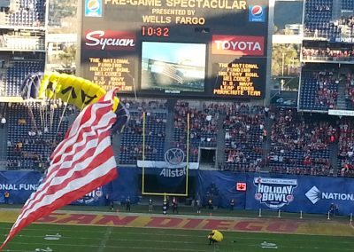 Paratroopers Landing at SDCCU Stadium for the Holiday Bowl