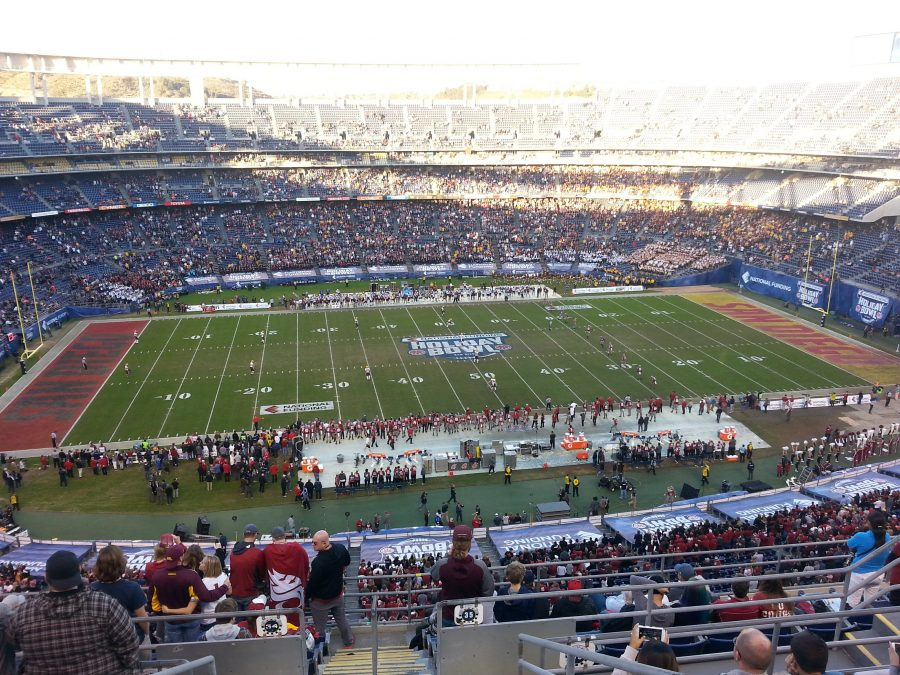 Kickoff at SDCCU Stadium for the Holiday Bowl