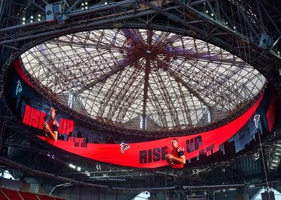 Retractable Roof and Halo Board at Mercedes-Benz Stadium