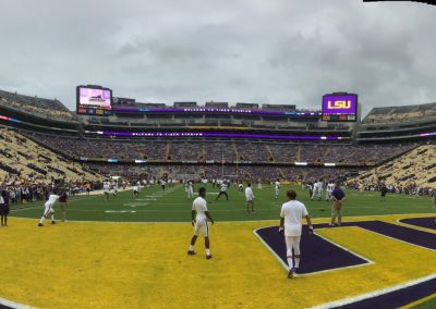 Tiger Stadium, Pre-game Warm-up End Zone View