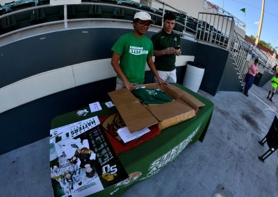 Conrad Park at Melching Field, Giveaways Table