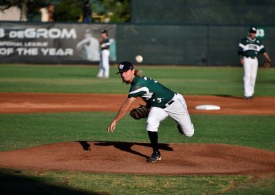 Conrad Park at Melching Field, Stetson Pitcher Tossing a Strike