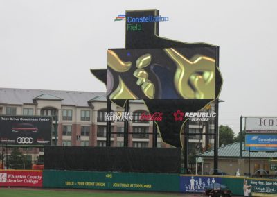 Constellation Field, Texas-shaped Video Board