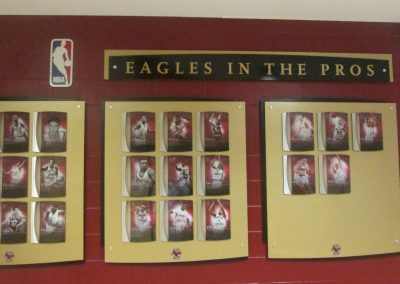 Eagles in the Pros Display at Conte Forum