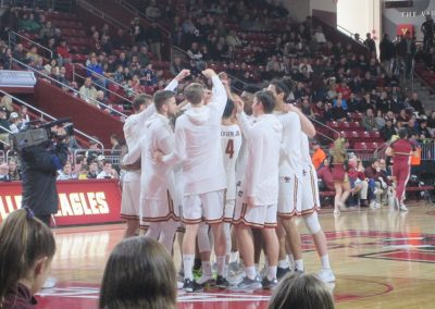 Eagles Huddle up at Conte Forum