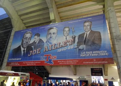 Joe Aillet Stadium, Banners in Concourse
