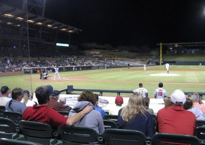Salt River Fields at Talking Stick View from Behind First Baseline