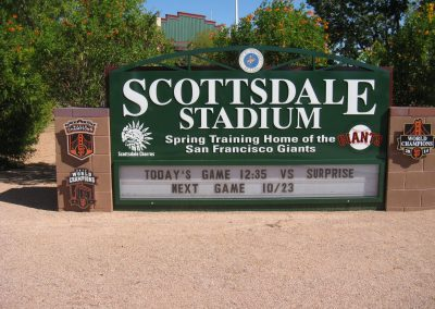 Scottsdale Stadium Entrance Sign