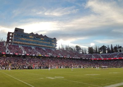 Stanford Stadium, View from the First Row