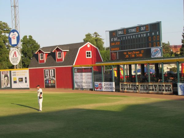 Recreation Park Outfield Barn and Scoreboard