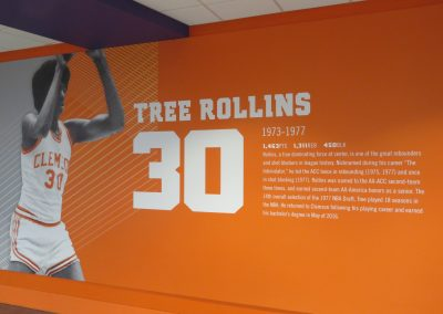 Wall Graphics on Clemson Greats