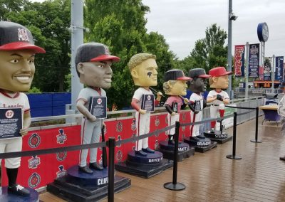 Giant Bobbleheads at FNB Field