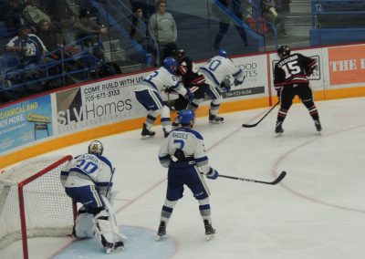 Game Action at Sudbury Community Arena