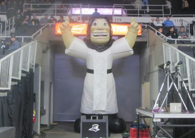 Friar Dom Inflatable at Dunkin' Donuts Center