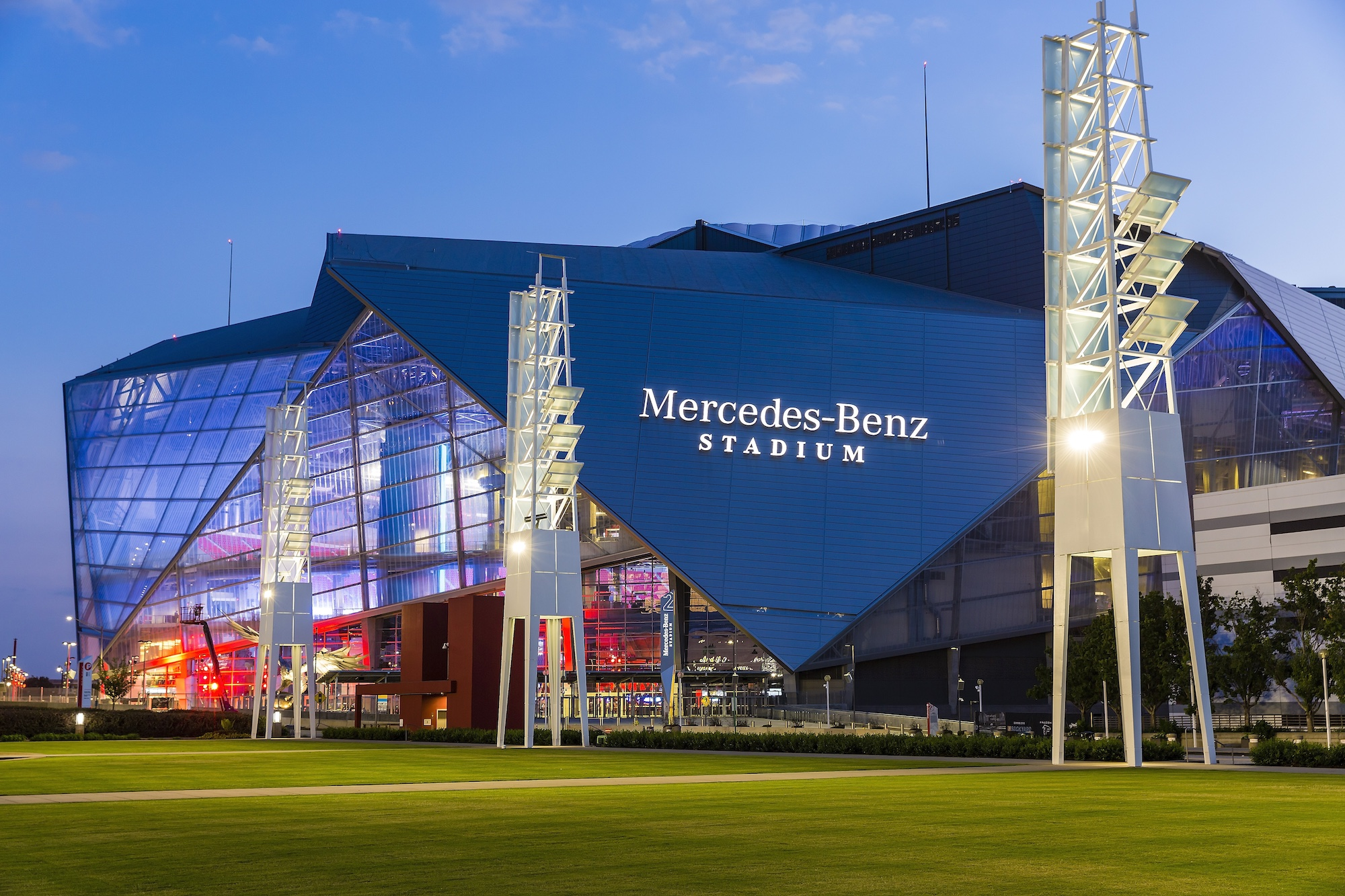 Mercedes benz stadium celebration bowl stadium journey for Who owns mercedes benz stadium