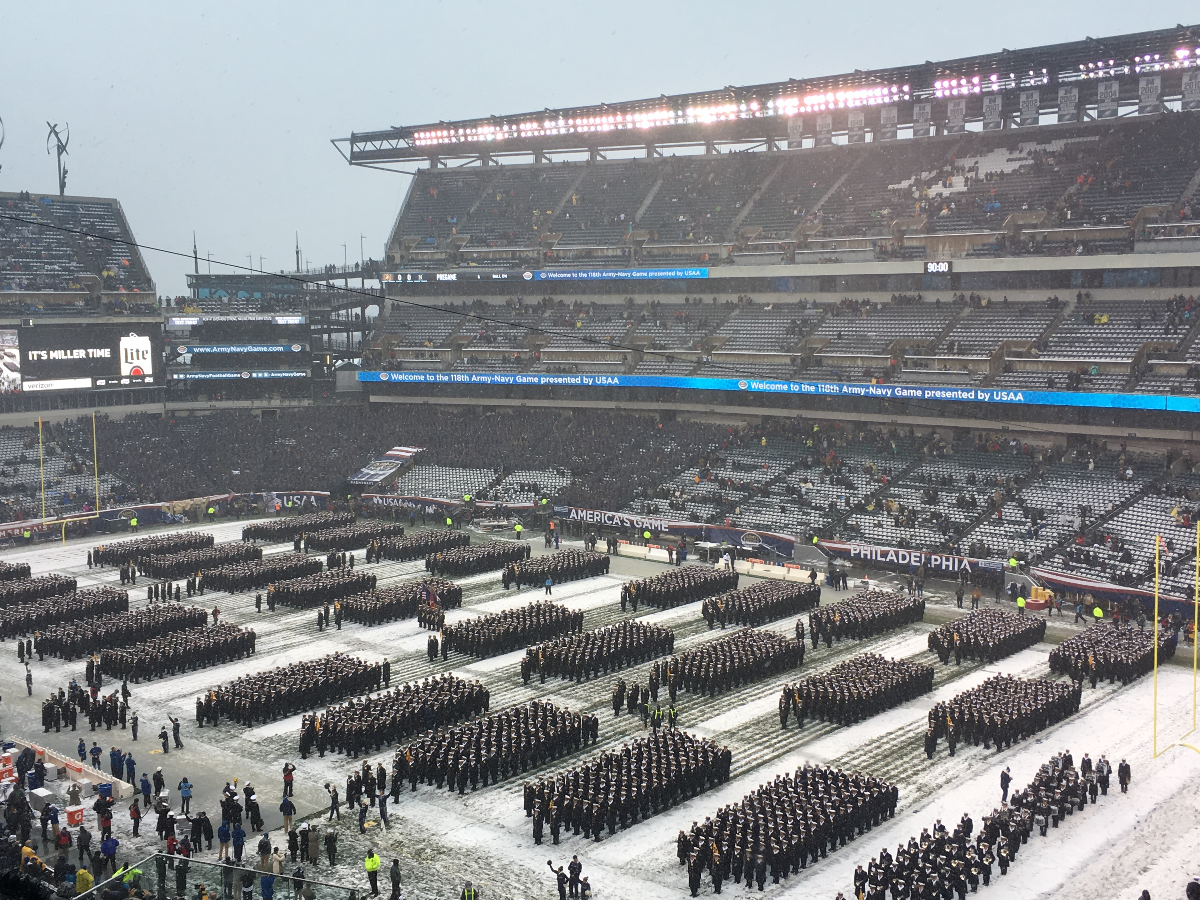 Army Navy Game 2017 Philadelphia >> Lincoln Financial Field Seating Capacity | Elcho Table